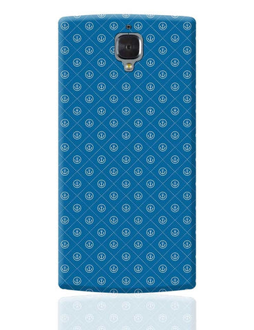 Abstract Anchor on Blue Background OnePlus 3 Cover Online India