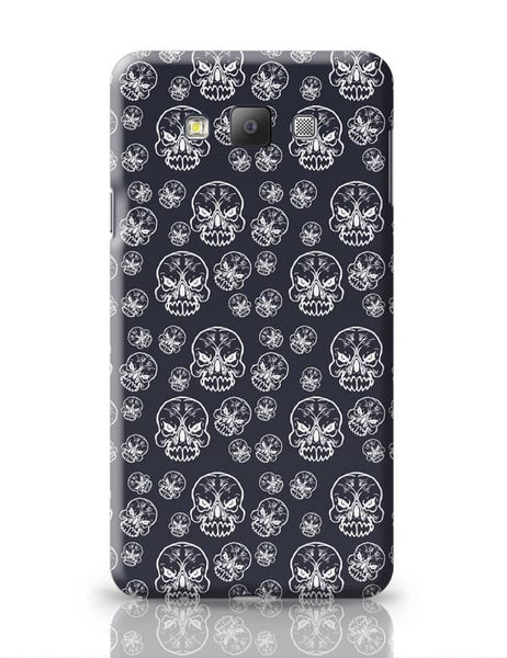 Abstract skull background Samsung Galaxy A7 Covers Cases Online India
