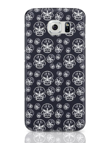 Abstract skull background Samsung Galaxy S6 Covers Cases Online India