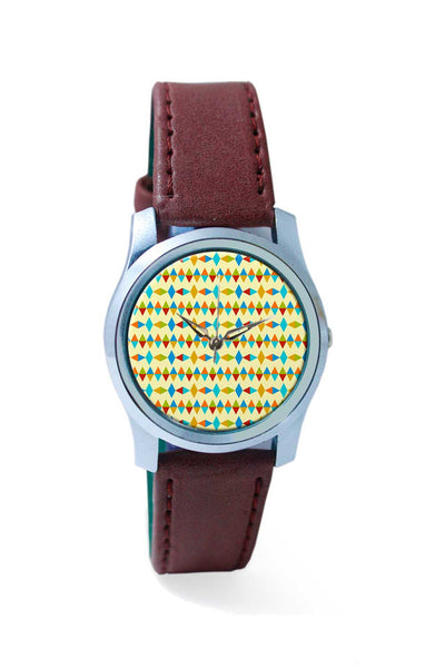 Women Wrist Watch India | Retro abstract triangle shapes Wrist Watch Online India