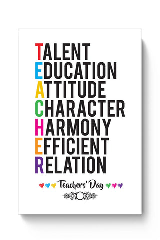 Teachers' Day On White  Poster Online India