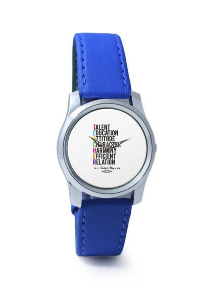 Women Wrist Watch India | Teachers' Day On White Wrist Watch Online India