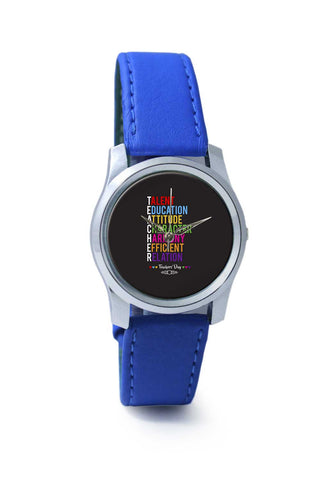 Women Wrist Watch India | Teachers' Day On Black Wrist Watch Online India