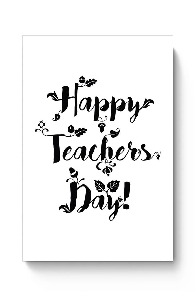 happy teachers day calligraphy poster online india