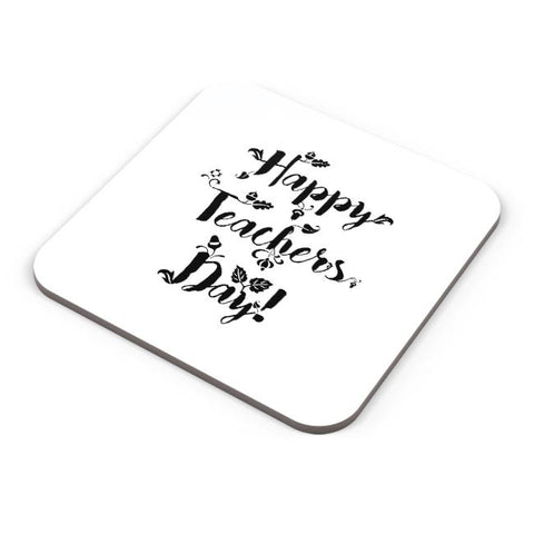 Happy Teachers Day Calligraphy Coaster Online India