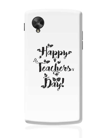 Happy Teachers Day Calligraphy Google Nexus 5 Covers Cases Online India