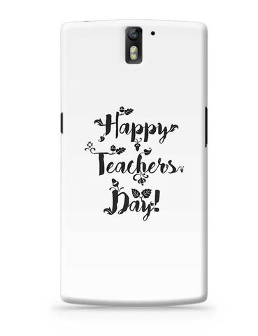 Happy Teachers Day Calligraphy OnePlus One Covers Cases Online India