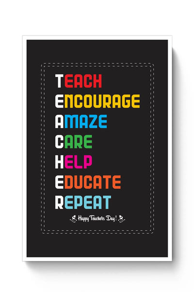 Tech Encourage Amaze Care Help Educate Repeat Poster Online India