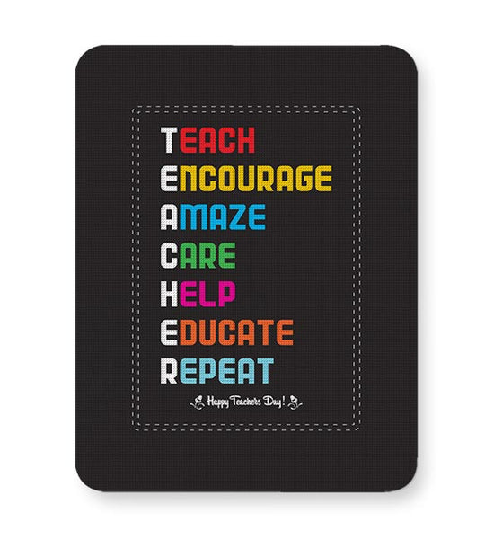 Tech Encourage Amaze Care Help Educate Repeat Mousepad Online India