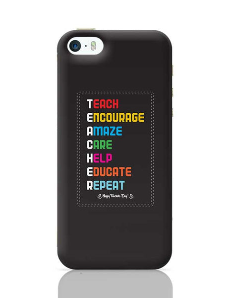 Tech Encourage Amaze Care Help Educate Repeat iPhone 5/5S Covers Cases Online India