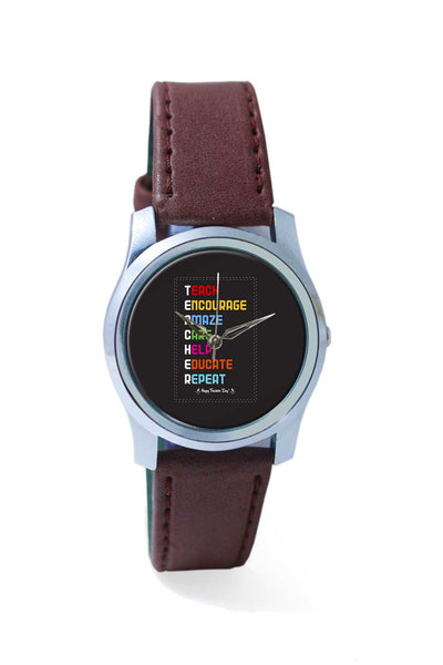 Women Wrist Watch India | Tech Encourage Amaze Care Help Educate Repeat Wrist Watch Online India