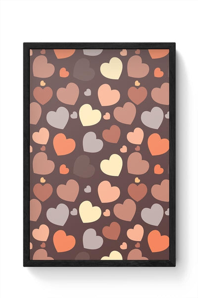 Chocolate Love Hearts Framed Poster Online India