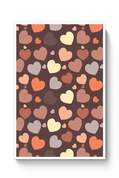 Chocolate Love Hearts Poster Online India