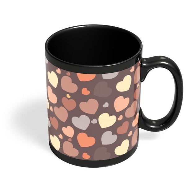 Chocolate Love Hearts Black Coffee Mug Online India