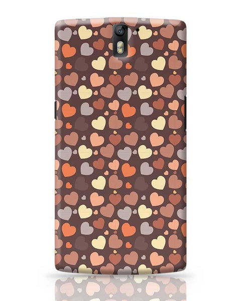 Chocolate Love Hearts OnePlus One Covers Cases Online India