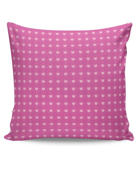 Square stroke hearts on pink  Cushion Cover Online India