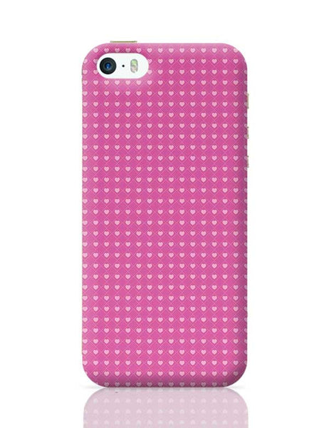 Square stroke hearts on pink  iPhone 5/5S Covers Cases Online India