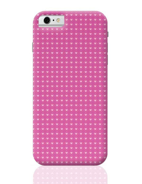 Square stroke hearts on pink  iPhone 6 6S Covers Cases Online India