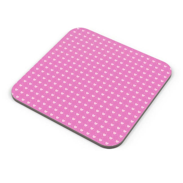 Square stroke hearts on pink  Coaster Online India