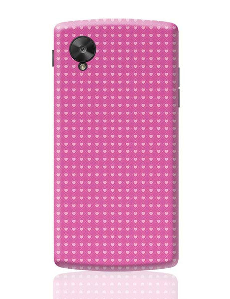 Square stroke hearts on pink  Google Nexus 5 Covers Cases Online India