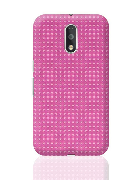 Square stroke hearts on pink  Moto G4 Plus Online India