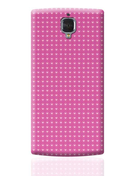 Square stroke hearts on pink  OnePlus 3 Covers Cases Online India