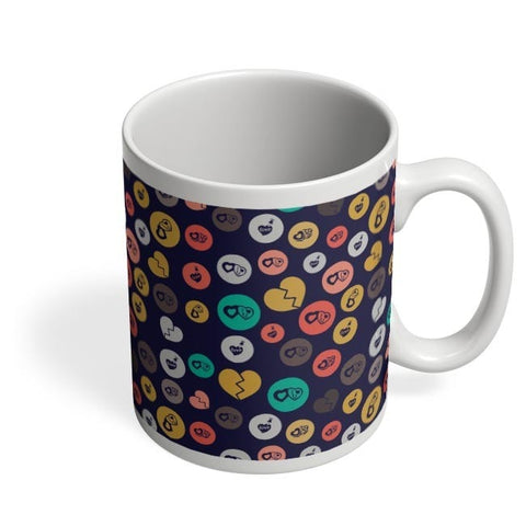 Colorful love hearts on dark blue Coffee Mug Online India