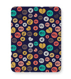 Colorful love hearts on dark blue Mousepad Online India