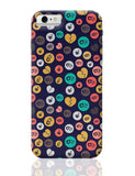 Colorful love hearts on dark blue iPhone 6 6S Covers Cases Online India