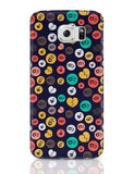 Colorful love hearts on dark blue Samsung Galaxy S6 Covers Cases Online India