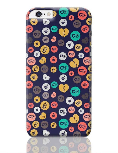 Colorful love hearts on dark blue iPhone 6 Plus / 6S Plus Covers Cases Online India
