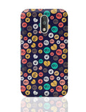 Colorful love hearts on dark blue Moto G4 Plus Online India