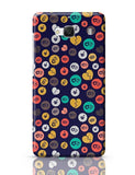 Colorful love hearts on dark blue Redmi 2 / Redmi 2 Prime Covers Cases Online India