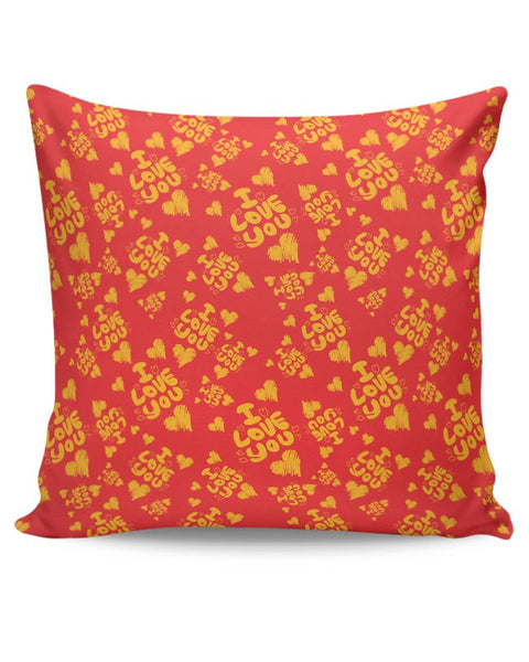 I love you hand draw hearts seamless pattern Cushion Cover Online India