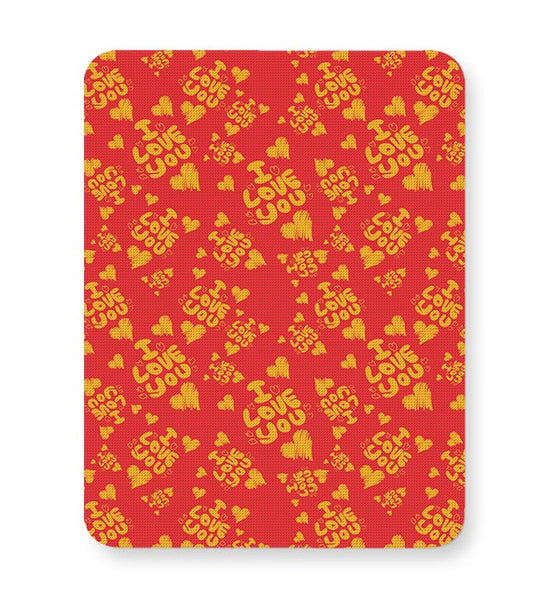I love you hand draw hearts seamless pattern Mousepad Online India