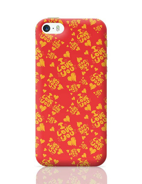I love you hand draw hearts seamless pattern iPhone 5/5S Covers Cases Online India