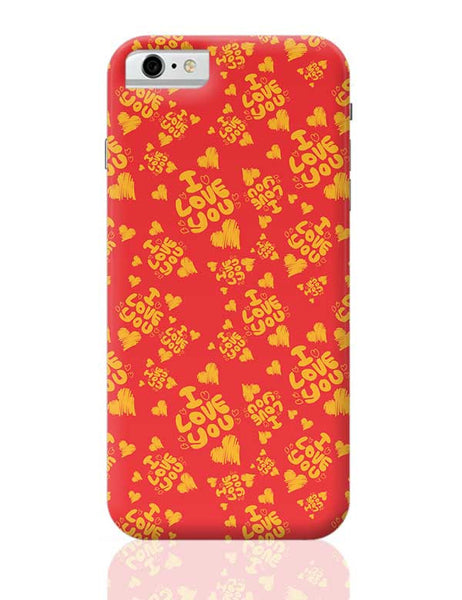 I love you hand draw hearts seamless pattern iPhone 6 6S Covers Cases Online India