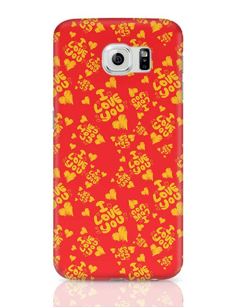 I love you hand draw hearts seamless pattern Samsung Galaxy S6 Covers Cases Online India