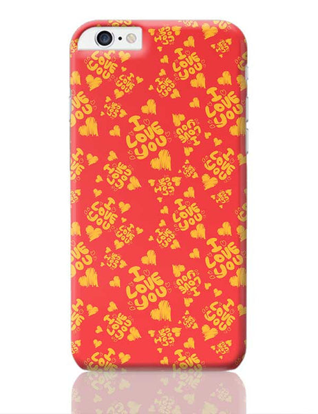 I love you hand draw hearts seamless pattern iPhone 6 Plus / 6S Plus Covers Cases Online India