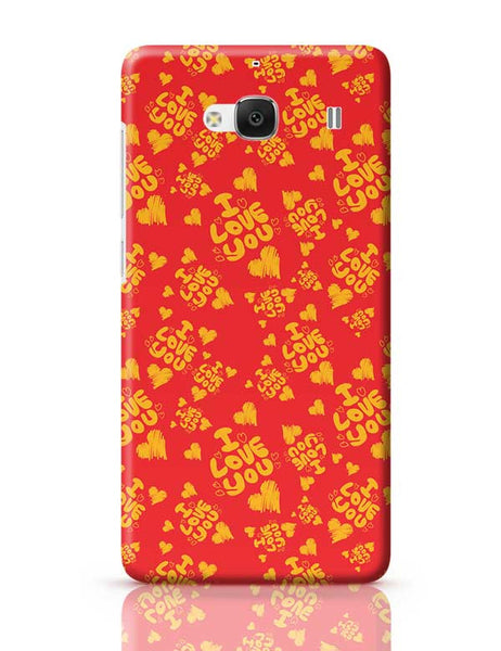 I love you hand draw hearts seamless pattern Redmi 2 / Redmi 2 Prime Covers Cases Online India