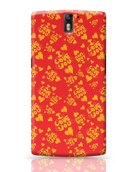 I love you hand draw hearts seamless pattern OnePlus One Covers Cases Online India