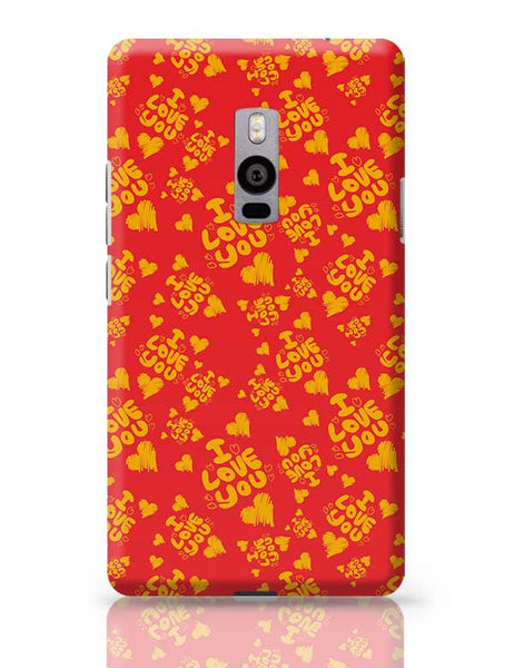 I love you hand draw hearts seamless pattern OnePlus Two Covers Cases Online India