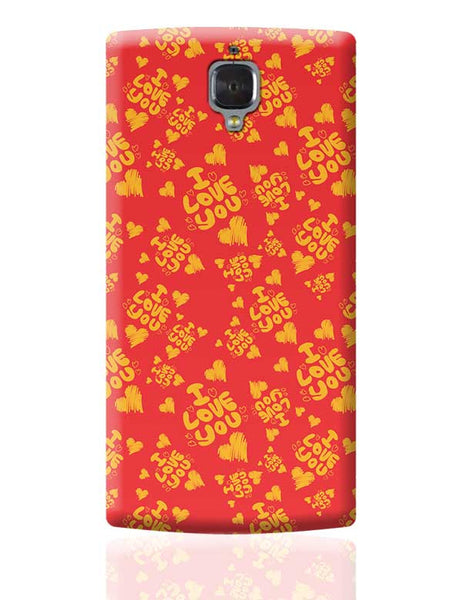 I love you hand draw hearts seamless pattern OnePlus 3 Covers Cases Online India
