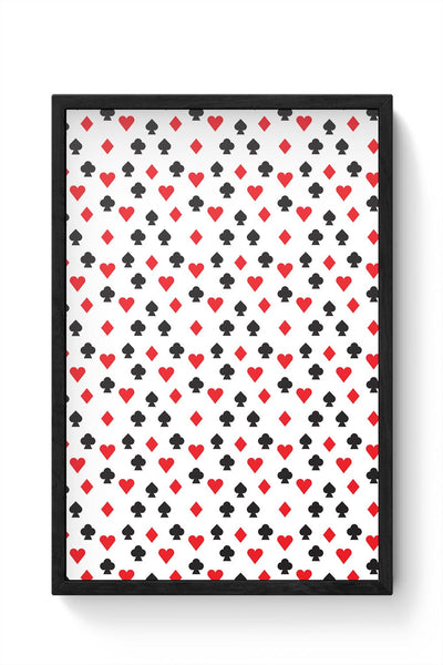 Playing Cards Framed Poster Online India