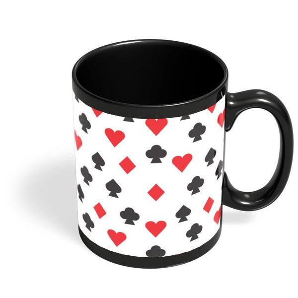 Playing Cards Black Coffee Mug Online India