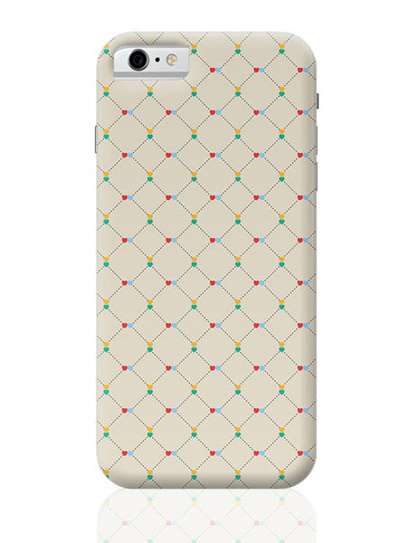 Dotted  square multicolor hearts seamless pattern iPhone 6 6S Covers Cases Online India