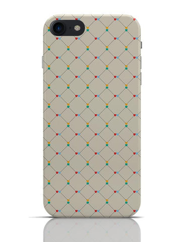Dotted  square multicolor hearts seamless pattern iPhone 7 Covers Cases Online India