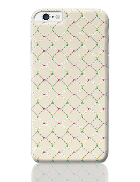 Dotted  square multicolor hearts seamless pattern iPhone 6 Plus / 6S Plus Covers Cases Online India