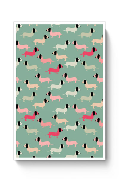 Dogs seamless pattern Vector Poster Online India