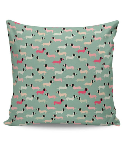 Dogs seamless pattern Vector Cushion Cover Online India